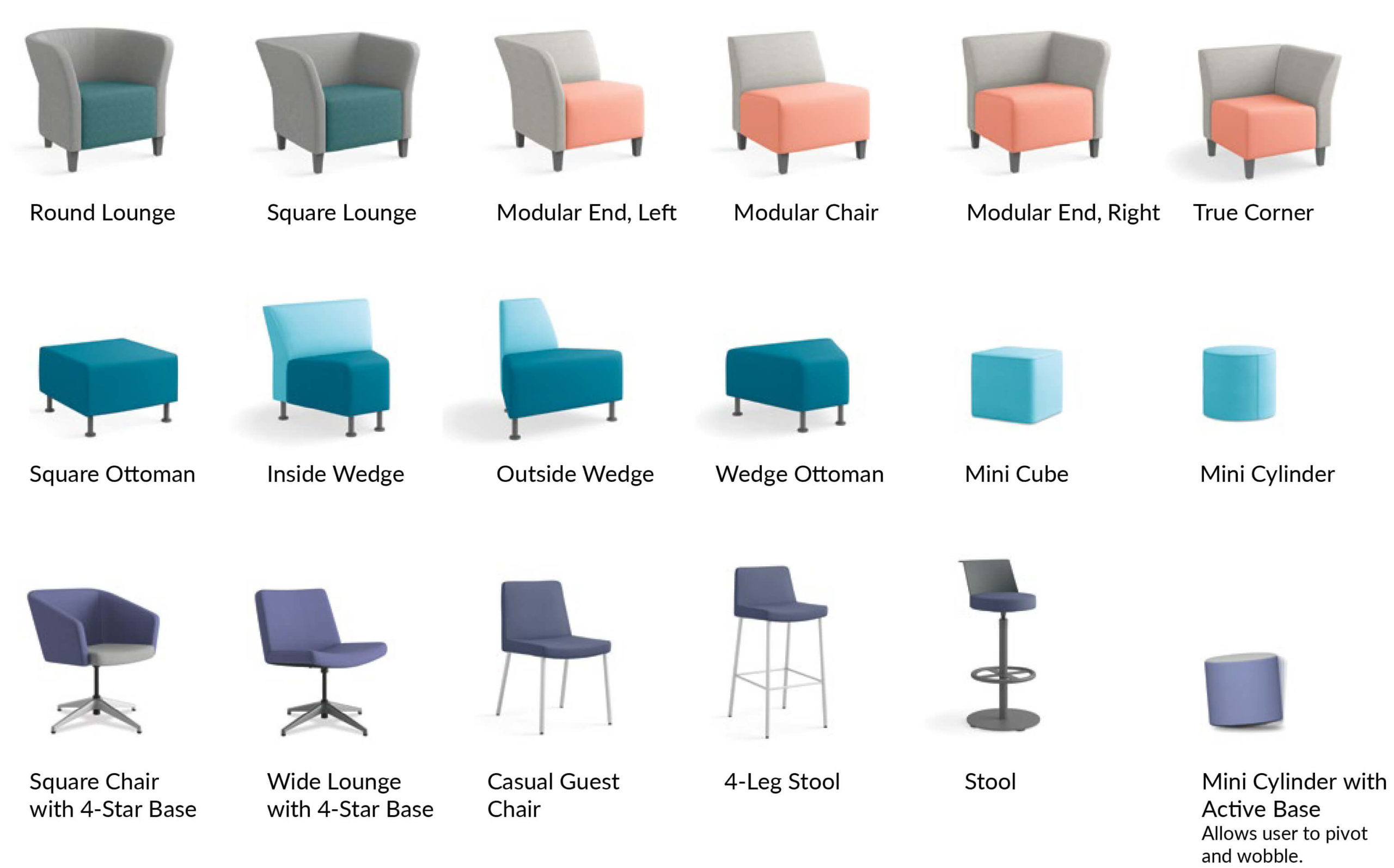 HON Flock Seating Product Options