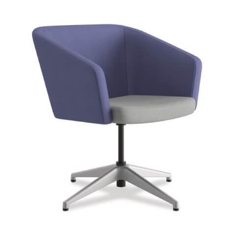 HON Flock Seating Square Chair with 4-Star Base
