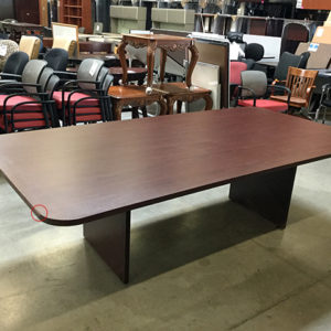 Used 10 Racetrack Conference Table Maple Laminate