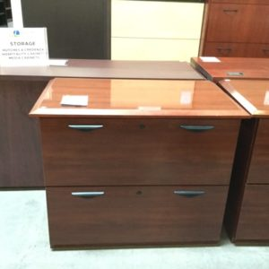 2 drawer cherry veneer file