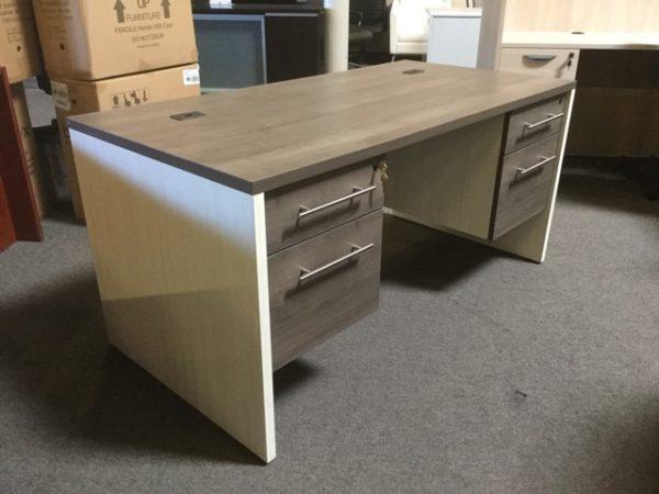 New office desk gray