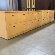 Lateral files maple