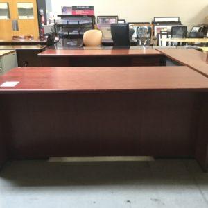Used steelcase desk credenza set