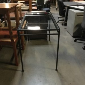 Used glass table desk