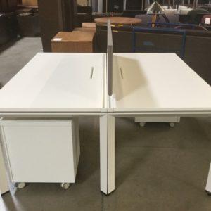 White Desk with file