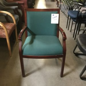 used guest chair wood frame