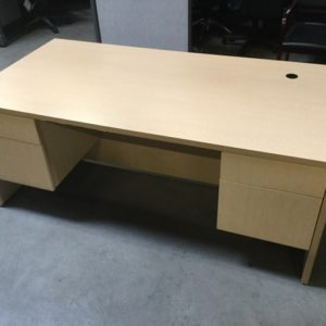 Used double ped desk