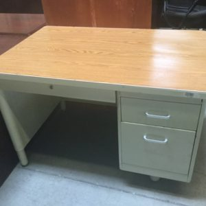 Single ped metal desk