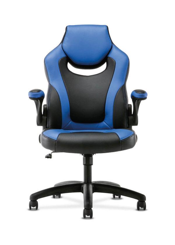 hon sadie gaming chair blue front