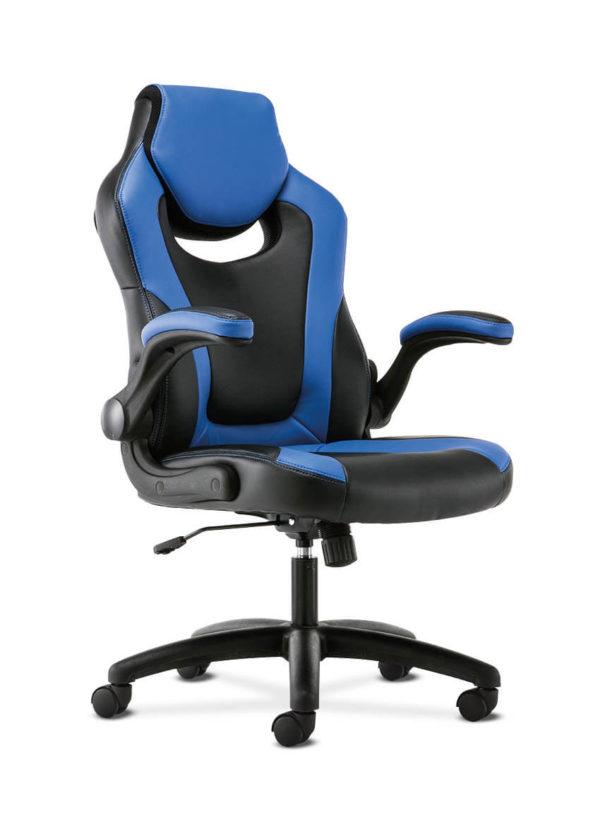 hon sadie gaming chair blue side