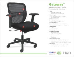 hon gateway task chair