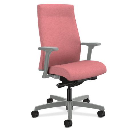 HON Ignition 2.0 Upholstered Back Platinum Base