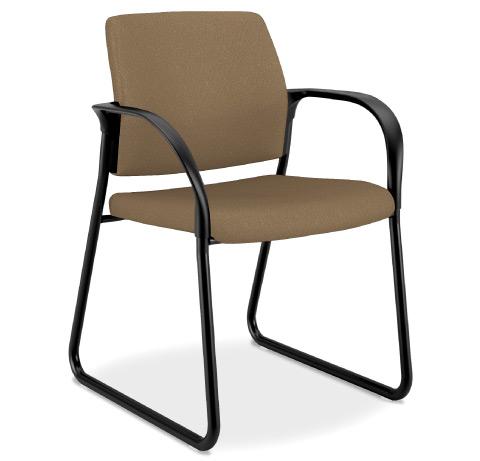 HON Ignition MultipurposeUpholstered Back Chair Sled Base