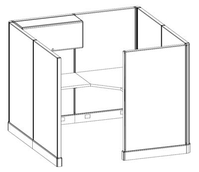 used haworth cubicle