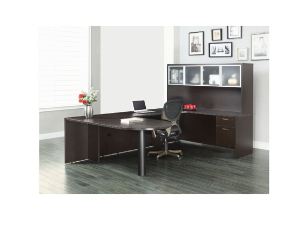 napa bullet u shape desk with hutch