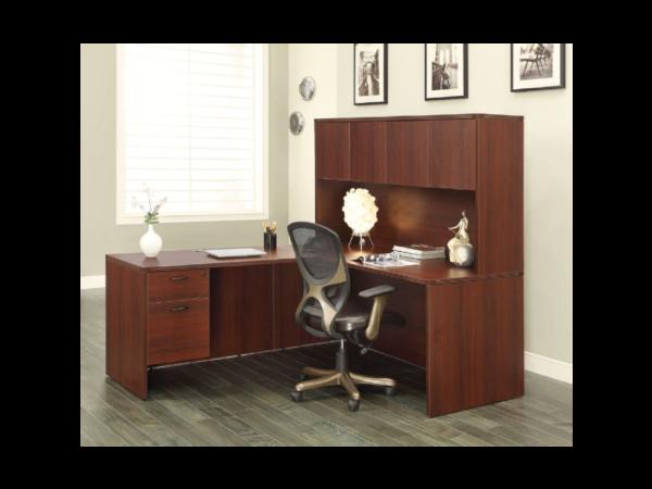 napa cherry l desk with hutch