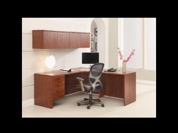 napa l desk with hutch
