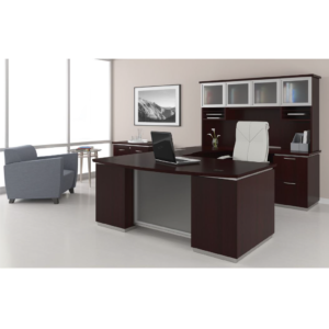 tuxedo u shape desk with hutch