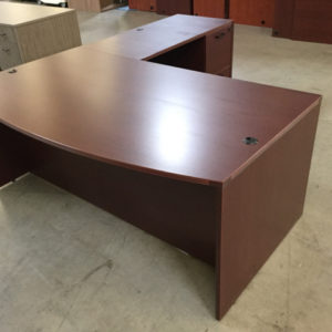 Bowfront l shape desk