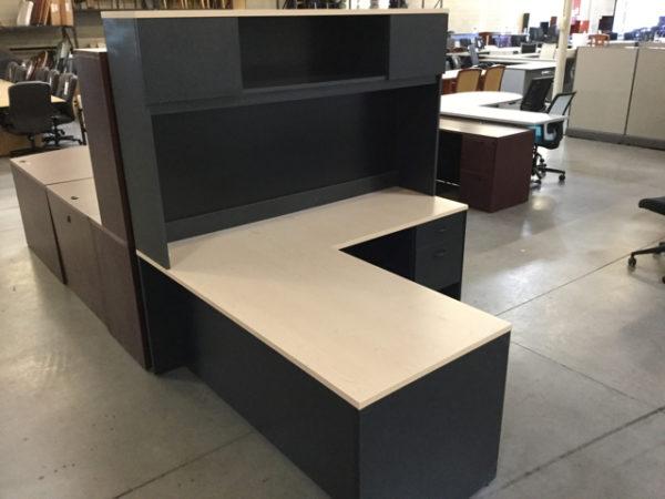 L desk with hutch