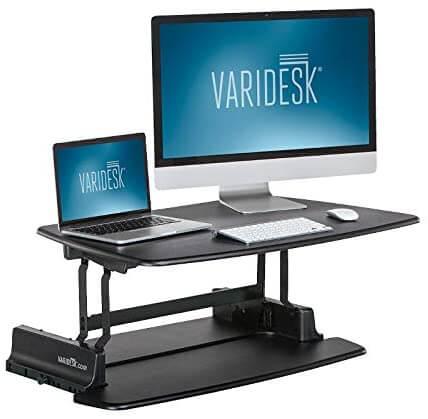varidesk pro 36 height adjustable riser