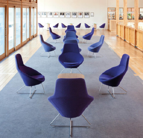 Allermuir Conic Seating Lounge Chairs