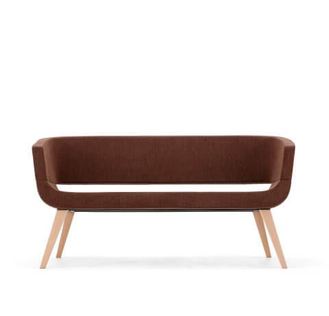 Allermuir Lola Seating Sofa On Wood Legs