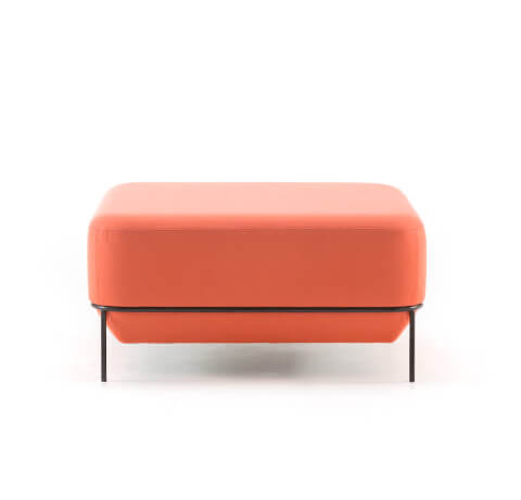 Allermuir Mozaik Seating Low Square Stool Front View