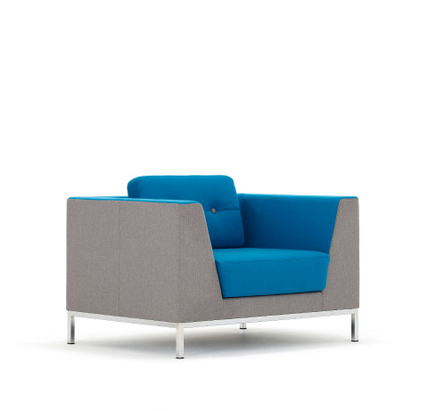 Allermuir Octo Seating Armchair Side View