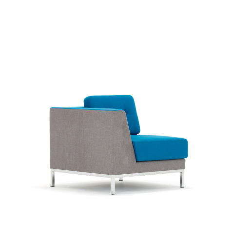 Allermuir Octo Seating Corner Unit Side View