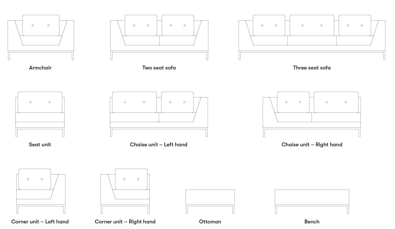 Allermuir Octo Seating Product Options