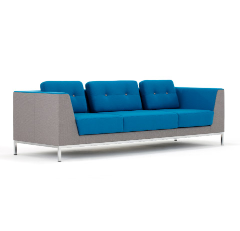 Allermuir Octo Seating Three Seat Sofa Side View