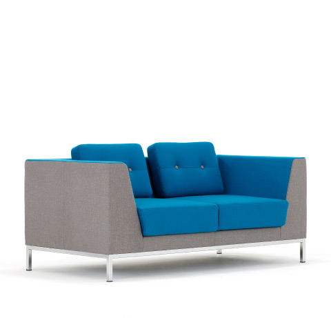 Allermuir Octo Seating Two Seat Sofa Side View