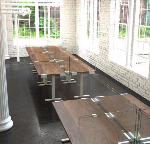 Clarus Divide Panels Station Dividers
