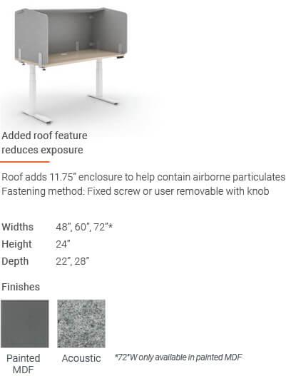 Enwork Edge Screens Desktop Screen With Roof