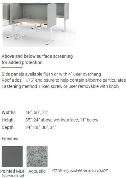Enwork Edge Screens Deskwrap Screens With Roof