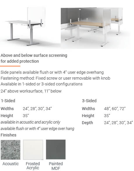Enwork Edge Screens Deskwrap Screens