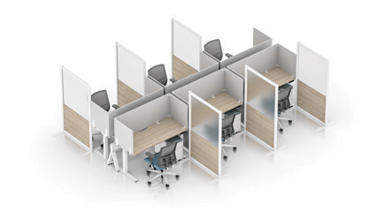 Enwork Zori Freestanding Screens Configuration Example 1
