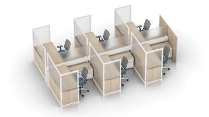Enwork Zori Freestanding Screens Configuration Example 2