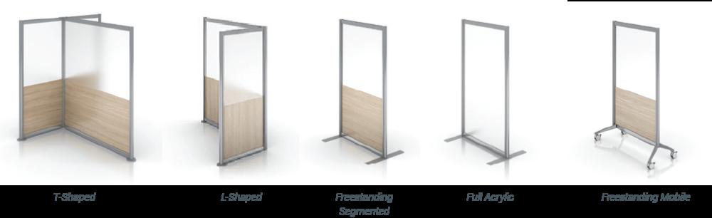 Enwork Zori Freestanding Screens Product Range