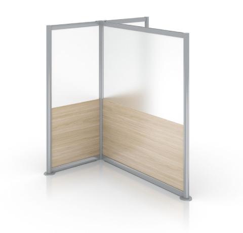 Enwork Zori Freestanding Screens T-Shaped