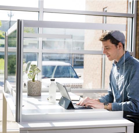 Loftwall Desk Shields Clear Acrylic