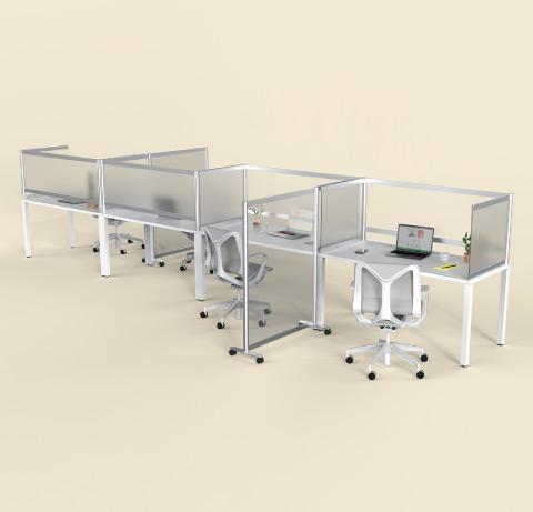 Loftwall Desk Shields Frosted Acrylic