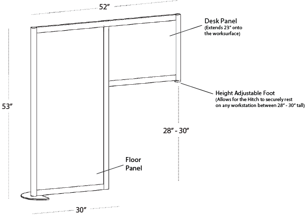 Loftwall Hitch Privacy Panels Dimensions