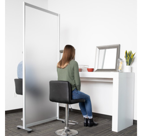 Loftwall Split Space Dividers On Casters
