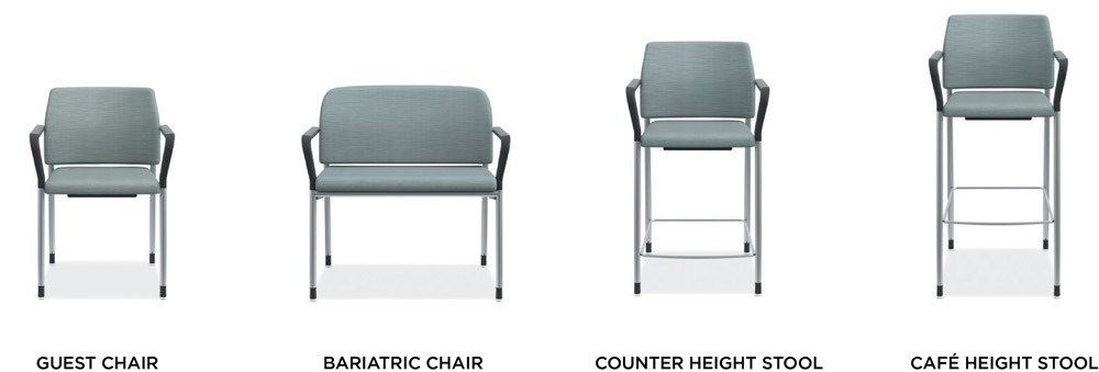 HON Accommodate Healthcare Seating Product Options