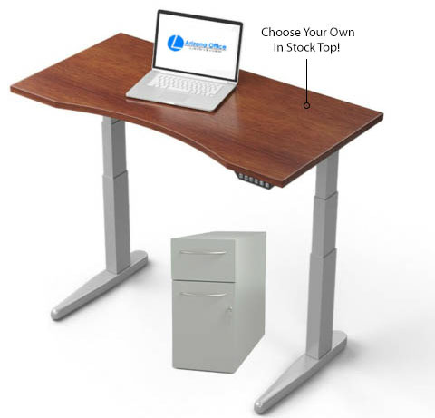 Electric Height Adjustable Table With Pedestal