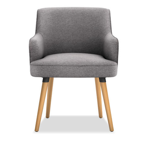 HON Matter Guest Chair Leg Base Front View