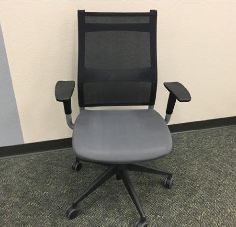 Sit On It Wit Task Chair Black Mesh