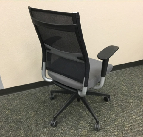 Sit On It Wit Task Chair Grey Seat